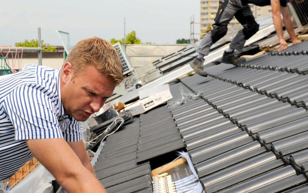 Die Dachpfanne mit integriertem Solarmodul