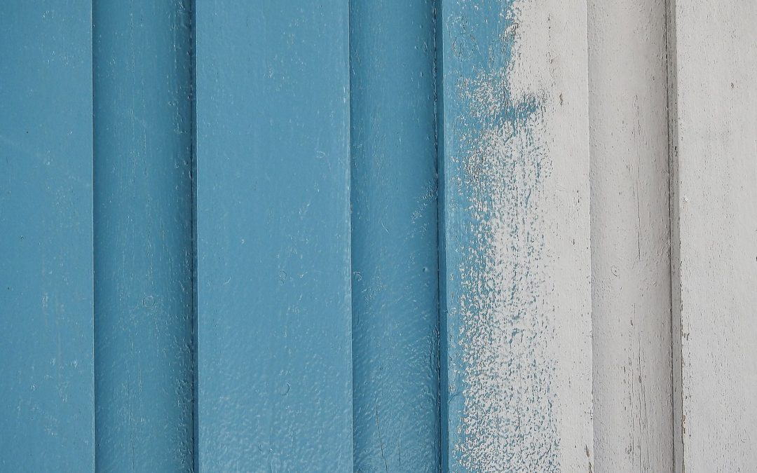 Up to date mit zweifarbigen Wänden